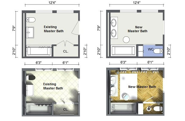 Bathroom Layout Options Sky Renovation Amp New Construction